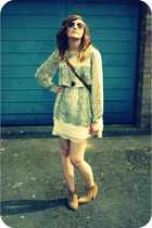 tawny Topshop boots - heather gray snakeprint River Island dress - dark brown ch