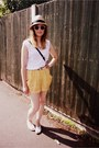 Panama-gap-hat-vintage-bag-h-m-shorts-h-m-sunglasses-whistles-t-shirt-
