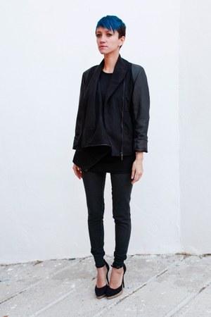 black romwe jacket - dark gray Primark pants