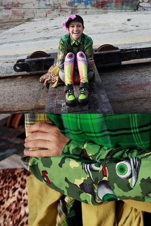 green Zulamimi Land shirt - yellow asos shoes