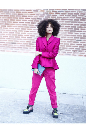 lime green asos boots - hot pink Laura Caicoya blazer