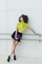 Laura Caicoya blouse - vintage shorts - TPRBT socks