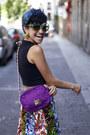 Amethyst-vintage-bag-chartreuse-vintage-sunglasses-blue-vintage-skirt
