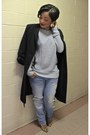 Light-blue-boyfriend-zara-jeans-heather-gray-high-low-forever-21-sweater
