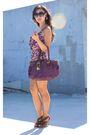 Purple-gold-swimwear-purple-coach-purse-brown-shoes-gold-h-m-earrings