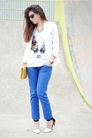 Zara shirt - PERSUNMALL blazer - Pimkie pants - Zara heels