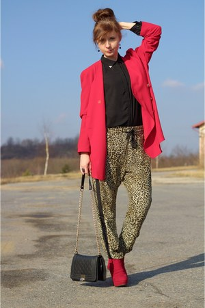 Tally Weijl bag - leopard print pull&bear pants