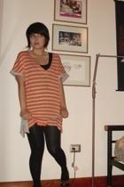 desigual t-shirt - Zara tights - Zara top - shoes