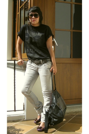 t-shirt - pull&bear jeans - pull&bear belt - pull&bear accessories - shoes
