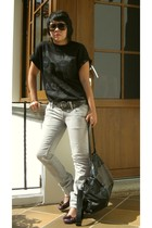 t-shirt - pull&bear jeans - pull&bear belt - pull&bear accessories - shoes