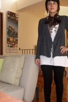 sweater - pull&bear t-shirt - accessories - Zara leggings - Nine West shoes