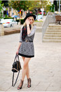 Heather-gray-pull-bear-dress-brick-red-h-m-scarf-black-zara-heels