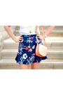 White-h-m-shirt-salmon-h-m-bag-navy-zara-skirt