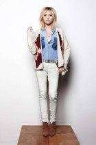white aztec maison scotch sweater - white maison scotch jeans