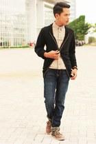 Parachute boots - Lee Cooper jeans - H&M shirt - Topman accessories