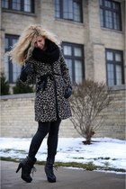 H&M coat - Jeffrey Campbell boots - rachel roy leggings - The Limited scarf
