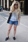 Silver-t-by-alexander-wang-top-blue-levis-shorts-black-aldo-shoes-gold-urb