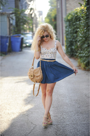 American Apparel skirt - Badgley Mischka purse - bustier bodysuit