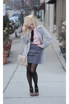Forever 21 heels - Anthropologie coat - Marc Jacobs bag - pins and needs blouse
