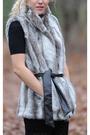 Black-american-apparel-dress-gray-kristen-blake-vest-tights
