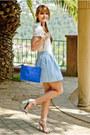 Blue-zara-bag-sky-blue-stradivarius-skirt