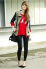 Red-h-m-sweater-black-calzedonia-leggings