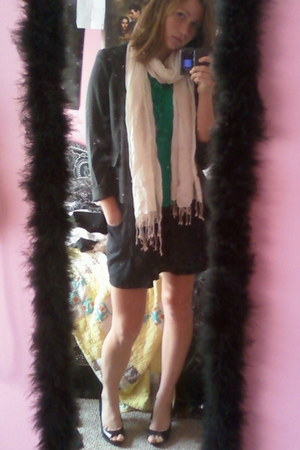 Roxy dress - XOXO blazer - Kristin Davis shirt - Forever21 scarf