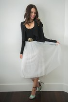 Nasty Gal skirt - H&M blazer - Forever 21 top - Forever 21 sandals