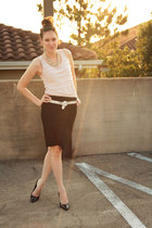 black pencil skirt New York and Company skirt - light pink pink tank top ceylon