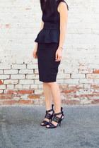H&M top - J Crew skirt - Alexander Wang heels