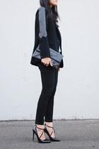 rag & bone blazer - APC sweater - balenciaga bag - Zara heels