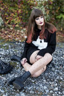 Black-h-m-boots-black-primark-sweater-black-only-skirt