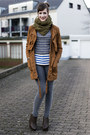 Brown-asos-coat-heather-gray-chicnova-sweater-black-chicnova-watch