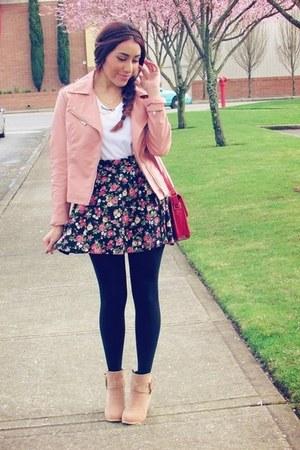 bubble gum Rosewholesale skirt - salmon f21 jacket