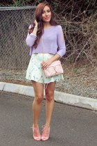 light pink OASAP bag - light blue OASAP shorts
