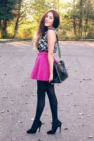 hot pink OASAP skirt