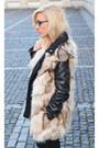 Ripped-jeans-jeans-biker-jacket-jacket-fur-vest-vest