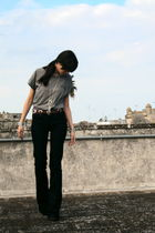 gray Zara t-shirt - blue Zara jeans - brown Massimo Dutti belt - brown Primadonn
