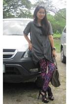 Forever21 leggings - Prada purse - Zara heels - Generic blouse