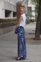 maxi skirt Bettina Liano skirt - clutch Meredith Wendell bag - bardot top