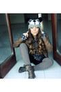 Dark-brown-smalto-boots-black-cotton-bershka-hat-dark-gray-casual-rare-shirt