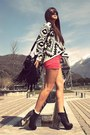 Black-studded-jeffrey-campbell-boots-black-fringe-bag-salmon-neon-shorts