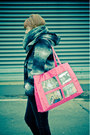 Hot-pink-wanted-bag-black-start-shoes-gray-reserved-coat