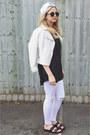 White-pu-primark-jacket