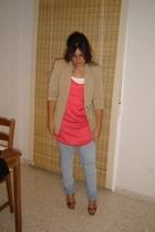 vintage blazer - Zara blouse - vintage jeans