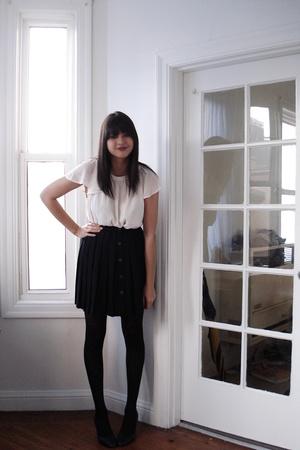 H&M blouse - thrifted skirt