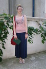 Ruby-red-meli-melo-bag-light-pink-new-look-top-navy-maxi-bon-prix-skirt