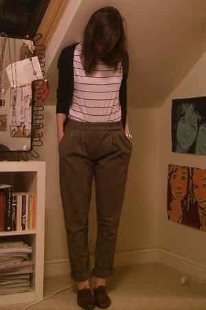 Zara - H&M t-shirt - Topshop pants - Topshop shoes