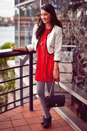 Dotti jacket - Siren boots - Armani Exchange dress - Chanel bag