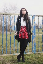 Chicwish skirt - Zara coat - H&M blouse